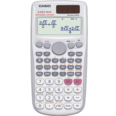 Casio FX-85GT Plus Scientific Calculator 260 Functions WHITE