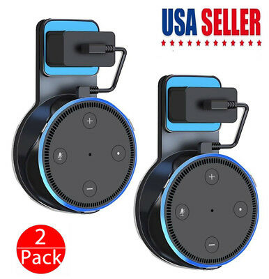 2 Pack Echo Dot Wall Mount Stand Holder Stand For Amazon Alexa Echo Dot 2nd US