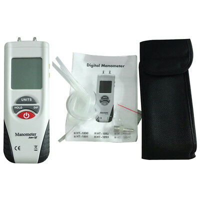 HT-1890 LCD Screen Display Digital Manometer Handheld Air Pressure Meter