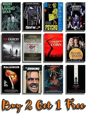 Classic Halloween Movie Posters Print Wall Art A4 A3 Films 70's 80's 90's Cinema