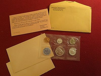 1963 United States Mint Silver Proof Set 5 Piece Flat Pack Coin Set No Spots !