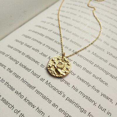 new fashion 925 Sterling Silver image coin Party Jewelry Pendant gold Necklace