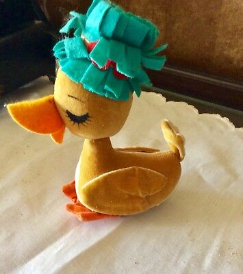 VINTAGE STUFFED YELLOW Duck, Rubber Face Character Novelty Co ...