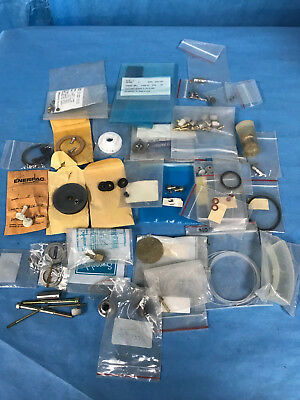 Test Lab Analyzer Service Parts and Acc. Many Pieces Fittings O-Rings, Etc.