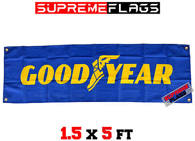 Goodyear Flag Banner Tires Tyres Car Shop Garage (18x58 in)