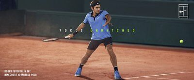 Nike Roger Federer Advantage Polo shirt adult XS - Summer 2017