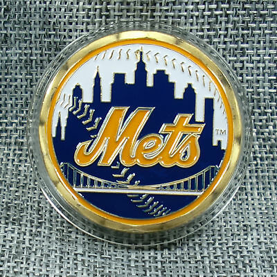 MLB New York Mets Poker Chip Card Guard Challenge Coin Golf Marker Paper Weight