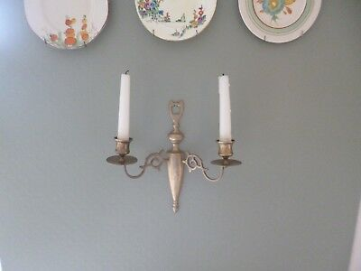 Gorgeous Antique 19th Century Victorian Solid Brass Wall Sconce