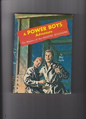 Mystery Of The Haunted Skyscraper Mel Lyle Hc Vintage Book Power Boys 1964!