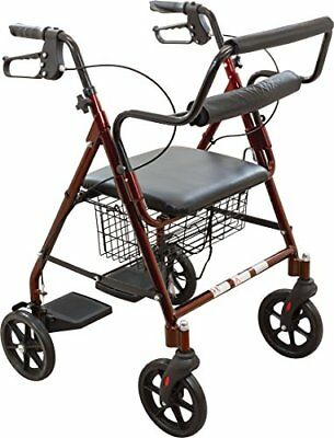 ProBasics Transport Rollator Walker With Seat and Wheels - Folding Walker And Tr