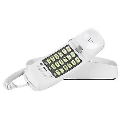 AT&T 210 Basic Trimline Corded Phone, No AC Power Required, Wall-Mountable,
