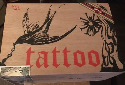 Cigar Box Tatuaje TATTOO Design 1 of 4 EMPTY Wood Hinged Lid Storage Stash