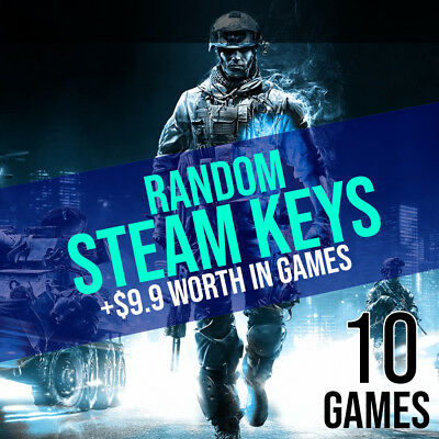 10 Random Steam Keys + BONUS (REGION FREE)