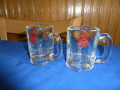 2 - Antique Dog n Suds Fountain Cups Pair of Vintage