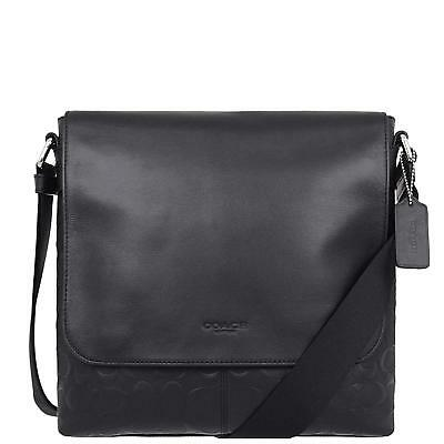 COACH Charles Small Messenger Grain Signature C Leather In Black F28577  NIBLK 3d2fb5052d