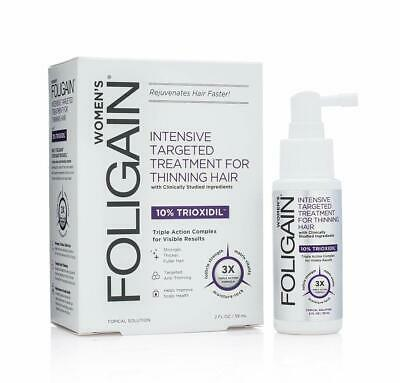 FOLIGAIN Intensive Treatment For Thinning Hair For Women with 10% Trioxidil 2 oz