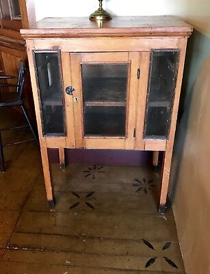 Antique Southern Pie Safe Or Safe In Yellow Pine