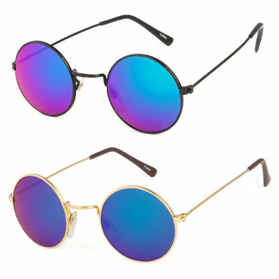 John Lennon Sunglasses Round Hippie Style Color Lens Retro Metal Frame
