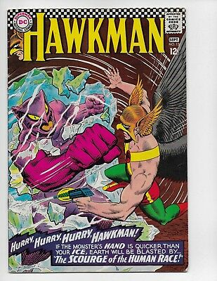 "Hawkman 15 - Vg/f 5.0 - Hawkgirl - ""the Scourge Of The Human Race"" (1966)"
