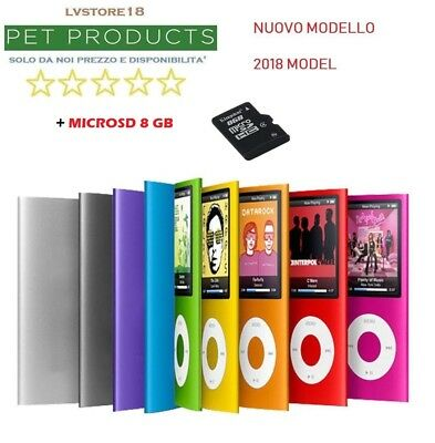 Lettore Player Mp4 Mp3 Micro Sd 8Gb Inclusa Video Audio Foto Radio Fm New 2018