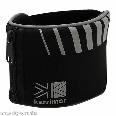Karrimor Wrist Wallet NEW Black Silver Run Running Sports