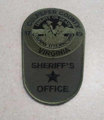 Culpeper County Sheriff's Office SUBDUED liberty or Death Police Patch VIRGINIA