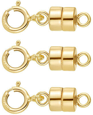 14K Gold Filled 4.5 mm Magnetic Clasp Converter for Jewelry and Necklaces | USA