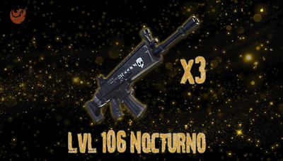 Fortnite: STW - LVL 106 Nocturno [3 PACK][GOD ROLLED]