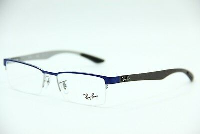 New Ray-Ban Rb 8412 2891 Blue Eyeglasses Authentic Frame Rx Rb8412 52-17