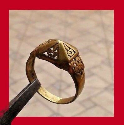 EXTREMELY RARE Roman LEGIONARY BRONZE ring. Ancient Roman RING OLD PATINA