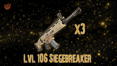 Fortnite: STW - LVL 106 Siegebreaker [3 PACK][GOD ROLLED]