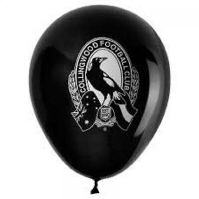 Collingwood Magpies Official AFL x 6 Balloons Double Sided FREE POST