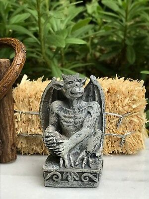 Miniature Dollhouse FAIRY GARDEN ~ Mini HALLOWEEN Gargoyle Statue Figurine ~ NEW