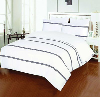 Luxury Premium Quality 100% Egyptian Cotton Sateen Embroidered Duvet Cover Sets