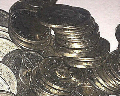 Old Canadian Nickel Lot - 50 Coins - 1953-1981 - PURE NICKEL