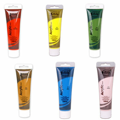 100ML Acrylic Art Paint Tube Student Paint Artist Quality Assorted Colours(A0832