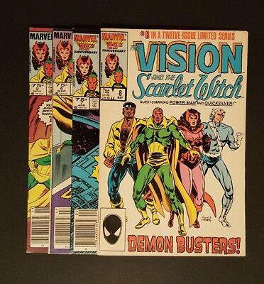 Vision and the Scarlet Witch #2 6 7 8 Marvel Comics * 4 book lot * Low Grade