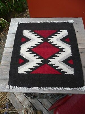 Heavy Weave,small..navajo,native ,wool Rug,12 Inch,x,14,perfect Condition