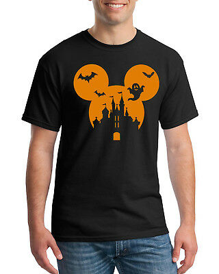 Mickey Minnie Mouse Disney Hipster Cute halloween Mens crewneck scary t shirt