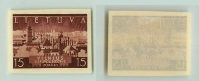 Lithuania 1940 SC 314 mint imperf color proof . f2671