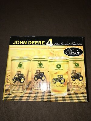 Gibson John Deere Tumblers-Set Of 4 NEW