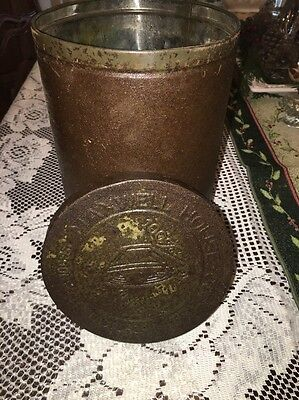Vintage Maxwell House Tin Metal Coffee Can Canister - Nice Patina