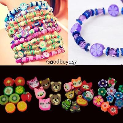 100 PCS Clay Beads DIY Slices Mixed Color Fimo Polymer Clay GDY7 01