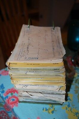 "Antique Medical Prescriptions Lot 1950""s Vintage Old Rare Morphine Codeine Other"