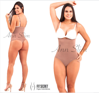 Fajas Colombianas Invisible Strapless Body Shaper Thong Full Tummy Compression