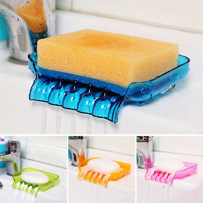 Shower Soap Box Dish Storage Plate Tray Holder Case Container Suction Bathroom