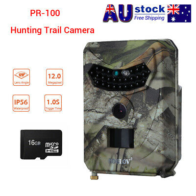 16GB 12MP Trail Camera Hunting Home Farm Scout Night Vision Wildlife Waterpoof