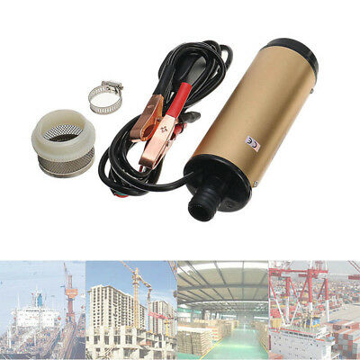 DC 12V/24V Submersible Water Oil Liquid Electric Fuel Transfer Pump Filer GYTH