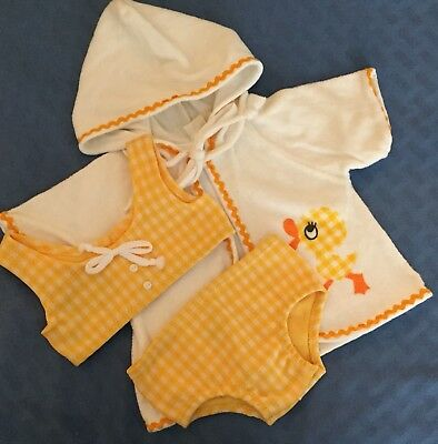 Vtg Two Piece Carter's Swim Suit And Coverup Robe  12 Months