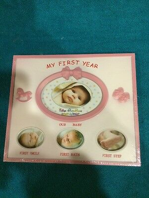 My First Year Baby Picture Frame New Pink Baby Shower Gift Newborn Frame Cute